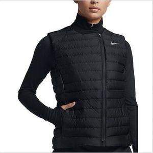 NIKE GOLF {Ladies XS} Down Vest Asymmetrical Black